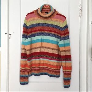 VINTAGE XL Rainbow Wool Thick Sweater